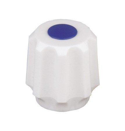 ARMATURA KRAKÓW - Uchwyt popularny biały z zaślepką czerwoną lub niebieską 892-064-44 / 892-065-44