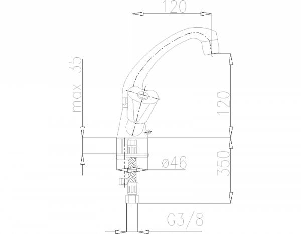 ARMATURA KRAKÓW - Ceramik Bateria dwuuchwytowa, umywalkowa  332-815-00