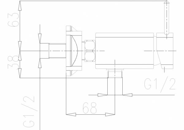 ARMATURA KRAKÓW - Brylant Bateria natryskowa ścienna 4306-010-00