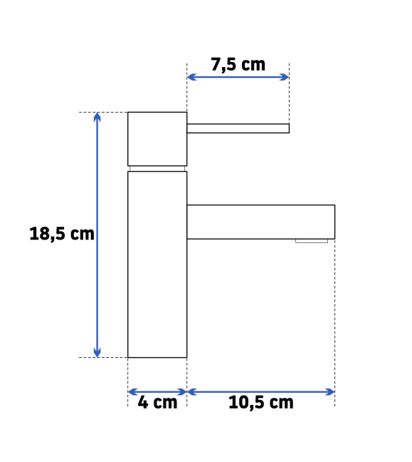 REA - Bateria umywalkowa niska stojąca TESS