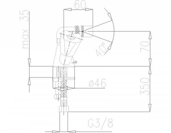 ARMATURA KRAKÓW - Ceramik Bateria dwuuchwytowa, bidetowa 337-015-00