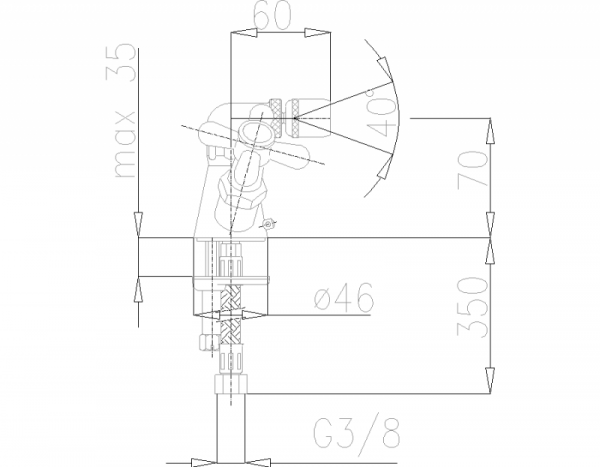ARMATURA KRAKÓW - Retro Bateria bidetowa 377-045-00