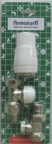 ARMATURA KRAKÓW - Pakiet zawór termostatyczny prosty 757-000-07