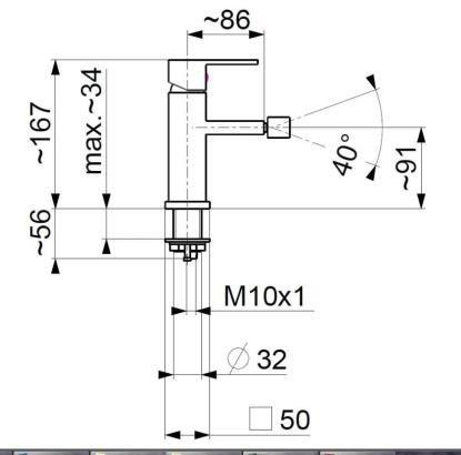 ARMATURA KRAKÓW - CASSINI bateria bidetowa 4127-011-00