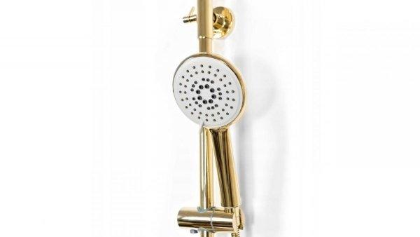 REA - zestaw natryskowy z termostatem VINCENT L.GOLD złoty