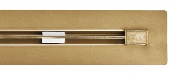 AQUALine Odpływ liniowy podłogowy złoty/gold SUPER SLIM INVISIBLE 70cm RSP01GL700 NOWOŚĆ