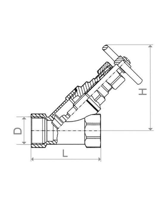 ARMATURA KRAKÓW - Zawór parowy skośny żeliwny 2'' 191-010-50