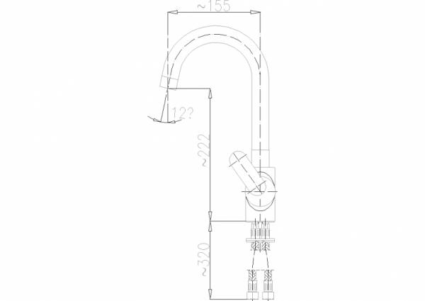ARMATURA KRAKÓW - Cyrkon Bateria zlewozmywakowa stojąca 583-815-00