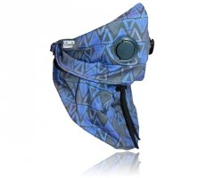 xBREATHE TRIANGLE BLUE Chusta Bandit higieniczna Antysmogowa