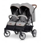 Zwillings-/ Geschwisterbuggy | Zwillingswagen TWIN DOMINO | Grey Fox