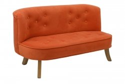 Somebunny Kindersofa | handgemacht & mitwachsend | Samt | Orange