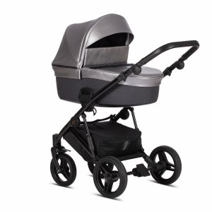 ZILLE TUTIS   Kombi-Kinderwagen 2 in 1 mit Liegewanne und Sportwagen   oder 3 in 1 mit Autoschale   Gestell in Schwarz   5 Day  Silber/Grau