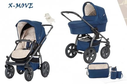 X-Move | 8 in 1  Kombi Kinderwagen | Desert Team | SPECIAL EDITION | Bettwäsche GRATIS!