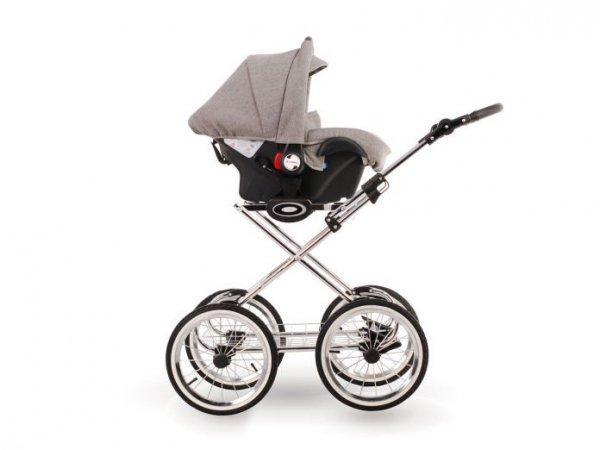 Retro Deluxe Kombikinderwagen 2 in 1, 3 in 1 Set, Nostalgie, Romantik Autoschale Babyschale