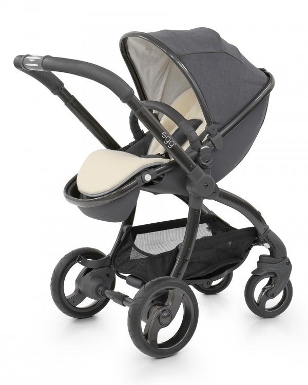 Geschwisterwagen | Zwillingskinderwagen EGG Stroller | + 2 Liegewannen / 2 Sportsitze + Sitzauflage gratis | BabyStyle | Quantum Grey