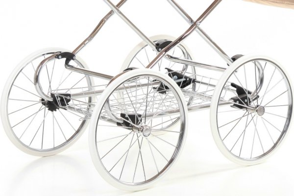 Retro Deluxe ECO-Leder | 2 in 1 mit Liegewanne und Sportwagen | oder 3 in 1 mit Autoschale | Kombi-Kinderwagen |  Dunkelbraun/Weidenkorb in Weiß