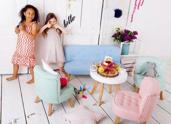 Somebunny Kindersessel | handgemacht & mitwachsend | Samt | Grau Candy