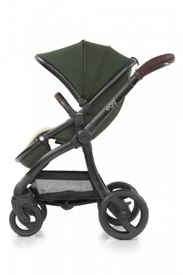Geschwisterwagen   Zwillingskinderwagen  EGG Stroller   + 1 Babywanne + 2 Sportsitze + Tandem Adapter  + 2 Sitzauflagen + 1 Becherhalter gratis    BabyStyle   County Green