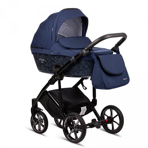 VIVA LIFE TUTIS | PREMIUM Sapphire | Kombi-Kinderwagen 2 in 1 mit Liegewanne und Sportwagen | oder 3 in 1 mit Autoschale