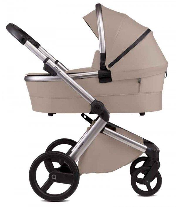 ANEX L-Type Flash/ Beige   Kombi-Kinderwagen 2 in 1 mit Babywanne und Sportwagen   oder 3 in 1 mit Autoschale