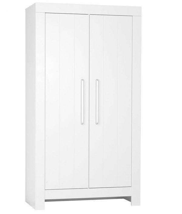 CAROLE Babyzimmer / Kinderzimmer Sparset | 3-teilig | Kinderbett + Wickelkommode + Schrank | weiß/grau