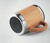 Kubek termiczny z bambusa i stali 300 ml AMBEO CLASSIC z uchem