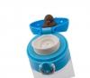 Kubek termiczny szklany 280 ml T-READY GLASS jasnoniebieski