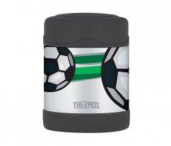 Termos dla dzieci na posiłek Thermos FUNtainer 290 ml (stalowy/czarny) motyw piłka