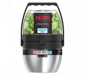 Termos obiadowy dwukomorowy Thermos Food Flask 600 ml + 470 ml (stalowy)