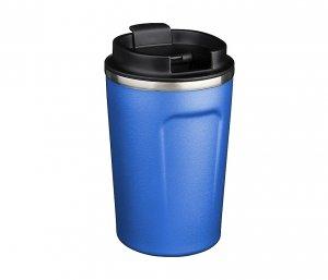 Kubek termiczny COPPER MINI 380 ml z miedzianą izolacją (niebieski)