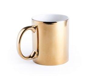 Kubek ceramiczny Chroma Gold 350 ml (złoty)