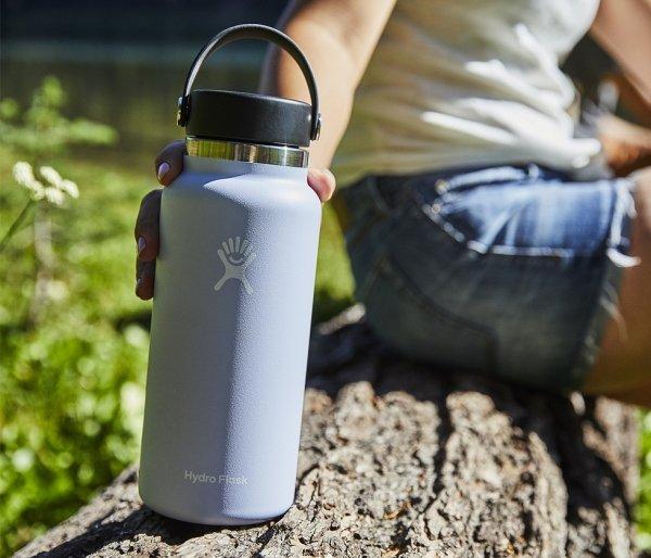 Termos Hydro Flask Wide Mouth 2.0 Flex Cap 946 ml biały vsco