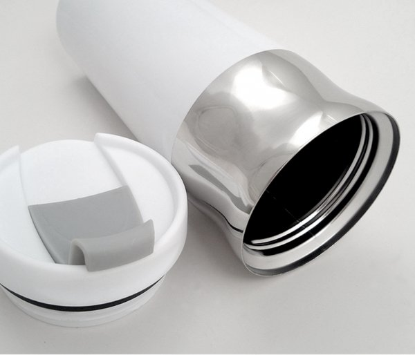 Kubek termiczny MUSTANG 450 ml biały