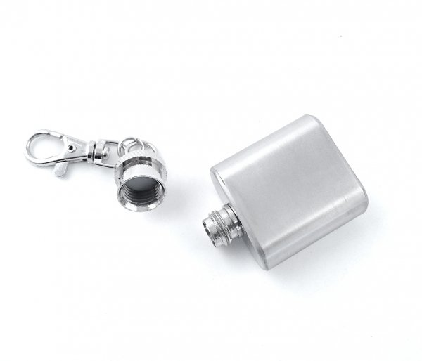Piersiówka stalowa mini brelok