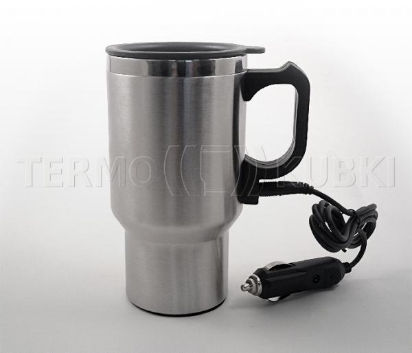 Kubek z podgrzewaczem 400 ml MOTO12v (stalowy)