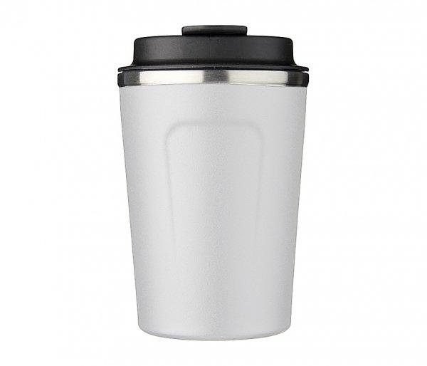 Kubek termiczny COPPER MINI 380 ml z miedzianą izolacją biały