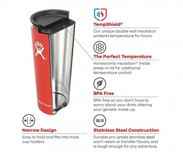 Kubek Tumbler Coaster Hydro Flask 650 ml granatowy