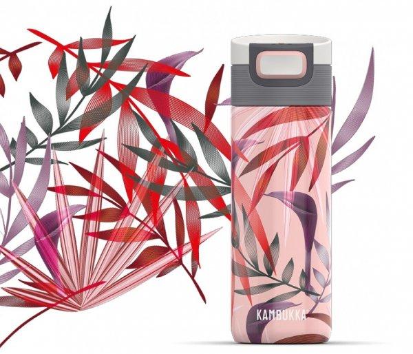 Kubek termiczny Kambukka Etna 500 ml Trumpet Flower różowe liście