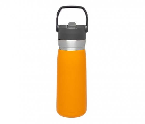 Bidon termiczny STANLEY GO FLIP STRAW 650 ml ze słomką pomarańczowy