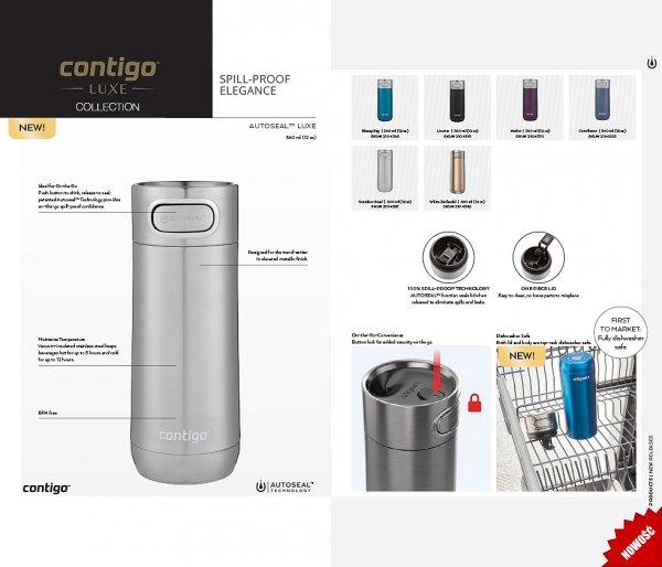 Kubek termiczny Contigo Luxe 360 ml kolory