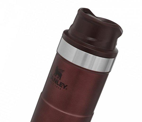 Kubek termiczny Stanley 470 ml TRIGGER ACTION TRAVEL MUG Wine Red bordowy