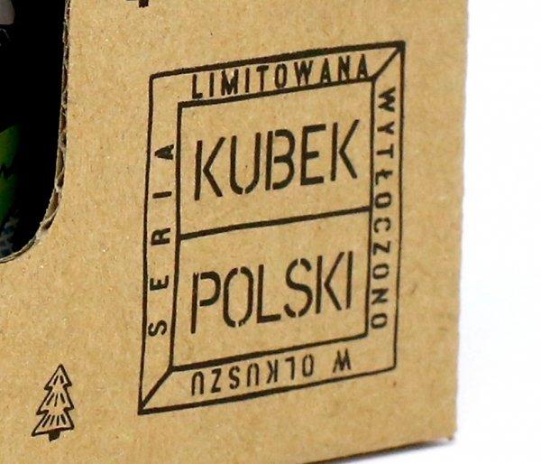 Kubek Polski Buszkraftowy emaliowany 350 ml biały