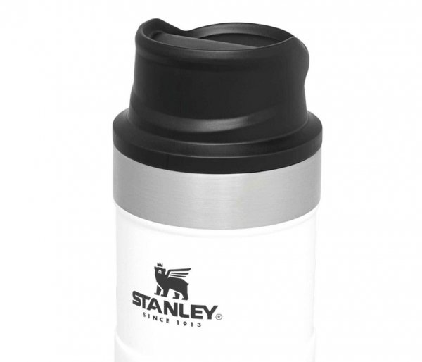 Kubek termiczny Stanley 250 ml TRIGGER ACTION TRAVEL MUG biały