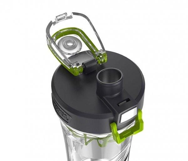 Shaker Thermos na odżywki sportowe 710 ml bezbarwny/siwy