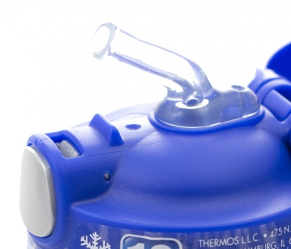Kubek dla dzieci ze słomką Thermos FUNtainer 470 ml stalowy/niebieski motyw jeleń