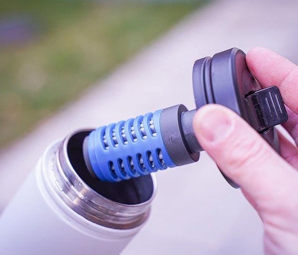 Przykrywka MIZU 360 Straw do kubków serii V czarny