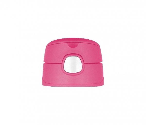 Kubek dla dzieci ze słomką Thermos FUNtainer 470 ml stalowy/różowy motyw lis
