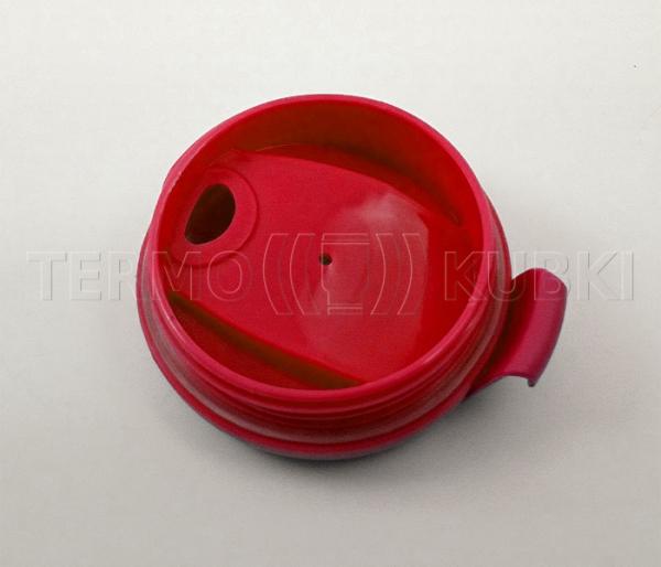 Kubek termiczny 350 ml LADY (biało-czerwony)