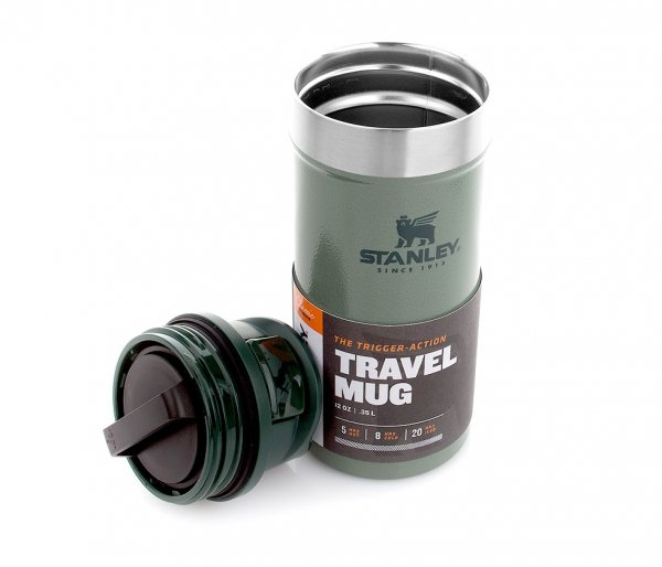 Kubek termiczny Stanley 350 ml TRIGGER ACTION TRAVEL MUG zielony