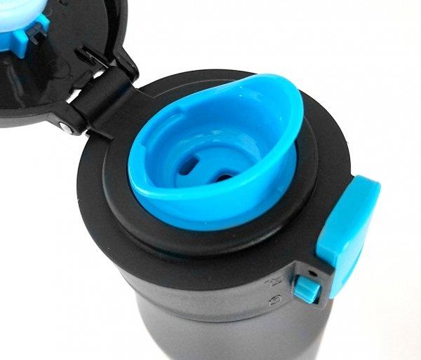 Kubek termiczny 600 ml T-READY2 (czarny/niebieski)